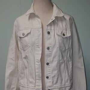 GAP Ivory Denim Jacket